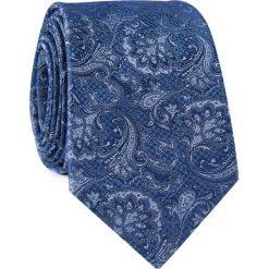 Krawat jedwabny KWWR000326. Niebieskie krawaty i muchy Giacomo Conti, z jedwabiu, eleganckie. Za 129.00 zł.