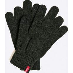 Levi's - Rękawiczki. Brązowe rękawiczki męskie Levi's, z bawełny. W wyprzedaży za 49.90 zł.