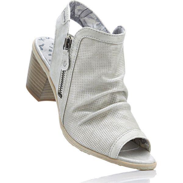 Sandały z odsłoniętymi palcami Mustang bonprix jasnoszary - Szare ... 6339c3f2e3