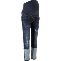 Dżinsy ciążowe do kostki, proste nogawki bonprix ciemny denim. Jeansy damskie marki bonprix. Za 59.99 zł.