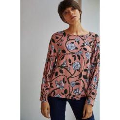 Medicine - Bluzka Halloween. Szare bluzki damskie MEDICINE, z tkaniny, casualowe, z okrągłym kołnierzem. W wyprzedaży za 49.90 zł.