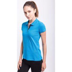 Koszulka polo damska TSD051AZ - NIEBIESKI JASNY. Niebieskie koszulki sportowe damskie 4f, z bawełny, polo. Za 59.99 zł.