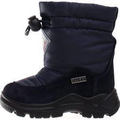 """Kozaki zimowe """"Varna"""" w kolorze granatowym. Buty zimowe dziewczęce Zimowe obuwie dla dzieci. W wyprzedaży za 172.95 zł."""