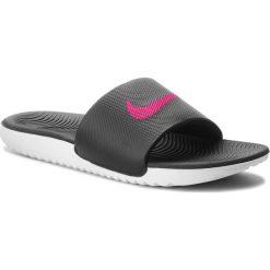 Klapki NIKE - Kawa Slide 834588 060 Black/Vivid Pink. Czarne klapki damskie Nike, z materiału. Za 139.00 zł.