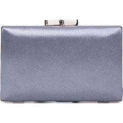 Szara torebka puzderko QUIOSQUE. Szare torebki do ręki damskie QUIOSQUE, z satyny. Za 99.99 zł.