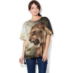 Colour Pleasure Koszulka CP-033  93 beżowo-zielona r. uniwersalny. Bluzki damskie Colour Pleasure. Za 76.57 zł.