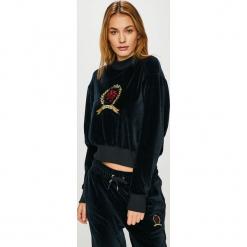 Tommy Jeans - Bluza. Czarne bluzy damskie Tommy Jeans, z aplikacjami, z bawełny. Za 579.90 zł.