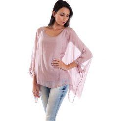 Koszulka w kolorze jasnoróżowym. T-shirty damskie 100% Soie, klasyczne, z okrągłym kołnierzem, z długim rękawem. W wyprzedaży za 130.95 zł.