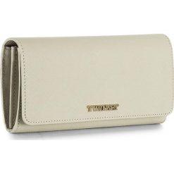 Duży Portfel Damski TWINSET - Portafoglio OA7PD3 White Ca 00889. Brązowe portfele damskie Twinset, ze skóry. W wyprzedaży za 359.00 zł.