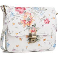 Torebka CREOLE - K10530 Biały/Kwiaty. Białe listonoszki damskie Creole, w kwiaty, ze skóry. W wyprzedaży za 129.00 zł.