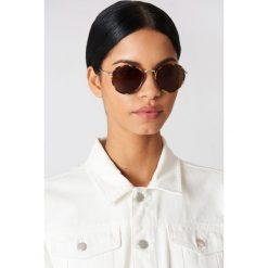 Le Specs Okulary przeciwsłoneczne Zephyr - Brown. Brązowe okulary przeciwsłoneczne damskie Le Specs. Za 242.95 zł.