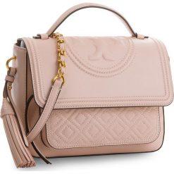 Torebka TORY BURCH - Fleming Satchel 45147 Shell Pink 652. Czerwone torebki do ręki damskie Tory Burch, ze skóry. Za 2,169.00 zł.