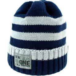 Czapka zimowa CZ 036A. Niebieskie czapki dla dzieci Proman, na zimę. Za 37.42 zł.