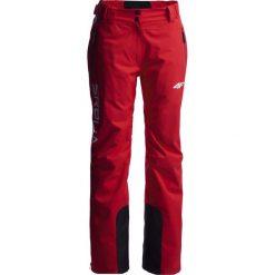 Spodnie narciarskie damskie Serbia Pyeongchang 2018 SPDN700 - czerwony wiśniowy. Czerwone spodnie materiałowe damskie 4f, z napisami, z dzianiny. W wyprzedaży za 699.95 zł.