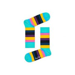 Skarpetki Happy Socks STR01-7005. Brązowe skarpety męskie Happy Socks, z bawełny. Za 24.43 zł.