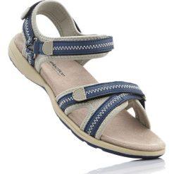 Sandały bonprix ciemnoniebiesko-beżowy. Sandały damskie marki bonprix. Za 79.99 zł.