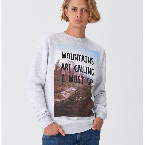 Bluza z nadrukiem Jasny szary