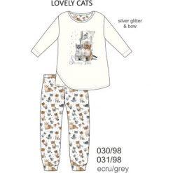 Piżama dziewczęca DR 030/98 Lovely cats Ecru r. 104. Szare bielizna dla chłopców Cornette. Za 52.67 zł.