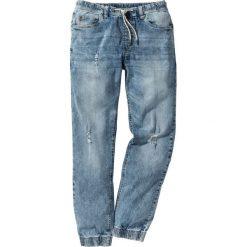 Dżinsy ze stretchem i  gumką w talii Slim Fit Straight bonprix niebieski. Jeansy męskie marki bonprix. Za 89.99 zł.