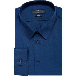 Koszula SIMONE KDGS000199. Niebieskie koszule męskie Giacomo Conti, z bawełny, z klasycznym kołnierzykiem, z długim rękawem. Za 149.00 zł.
