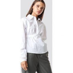 NA-KD Trend Krótka koszula z miseczkami - White. Białe koszule damskie NA-KD Trend, z krótkim rękawem. Za 121.95 zł.