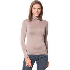 Koszulka w kolorze szarobrązowym. Brązowe bluzki damskie Assuili, z golfem. W wyprzedaży za 45.95 zł.