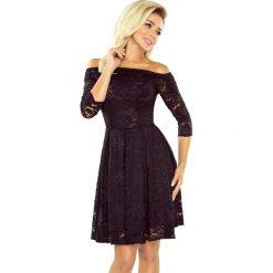 Sukienka koronkowa kontrafałda sf-168-1. Czarne sukienki damskie SaF, w koronkowe wzory, z bawełny, wizytowe. Za 229.90 zł.