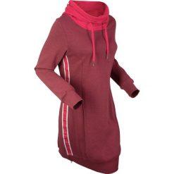 Długa bluza dresowa, długi rękaw bonprix bordowo-czerwony melanż. Bluzy damskie marki KALENJI. Za 99.99 zł.