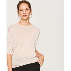 Sweter z wiązaniem z tyłu - Różowy. Swetry damskie marki bonprix. W wyprzedaży za 49.99 zł.