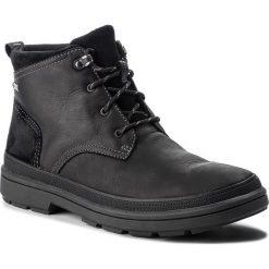 Kozaki CLARKS - RushwayMid Gtx GORE-TEX 261378587 Blk Tumbled Leather. Czarne kozaki męskie Clarks, z gore-texu. W wyprzedaży za 469.00 zł.