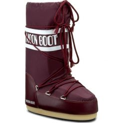 Śniegowce MOON BOOT - Nylon 14004400074 Borgogna D. Czerwone kozaki damskie Moon Boot, z materiału. Za 359.00 zł.