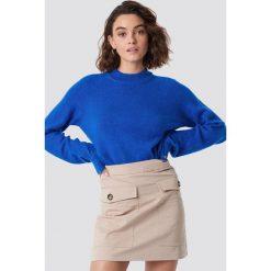 Moves Sweter Savea - Blue. Niebieskie swetry damskie Moves, z dzianiny, z okrągłym kołnierzem. Za 242.95 zł.