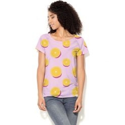 Colour Pleasure Koszulka CP-034 114 różowo-żółta r. XS/S. T-shirty damskie Colour Pleasure. Za 70.35 zł.