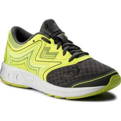 Buty ASICS - Noosa Gs C711N  Carbon/Safety Yellow/Mid Grey 9707. Szare obuwie sportowe damskie Asics, z materiału. W wyprzedaży za 199.00 zł.