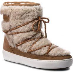 Śniegowce MOON BOOT - Pulse Mid Wool 24103300001  Sand/Off White. Szare kozaki damskie Moon Boot, z materiału. Za 999.00 zł.