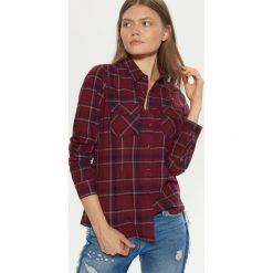 Koszula z kieszeniami - Bordowy. Czerwone koszule damskie Cropp. Za 69.99 zł.