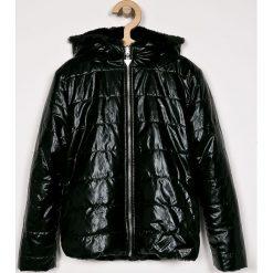 Guess Jeans - Kurtka dwustronna dziecięca 136-166 cm. Czarne kurtki i płaszcze dla dziewczynek Guess Jeans, z aplikacjami, z jeansu. Za 469.90 zł.
