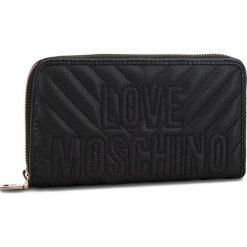 Duży Portfel Damski LOVE MOSCHINO - JC5585PP06KI0000  Nero. Czarne portfele damskie Love Moschino, ze skóry ekologicznej. Za 429.00 zł.