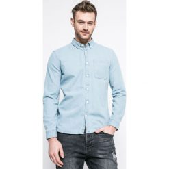 Review - Koszula. Szare koszule męskie Review, z bawełny, button down, z długim rękawem. W wyprzedaży za 89.90 zł.