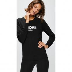 Adidas Performance - Bluza. Czarne bluzy damskie adidas Performance, z nadrukiem, z bawełny. W wyprzedaży za 159.90 zł.