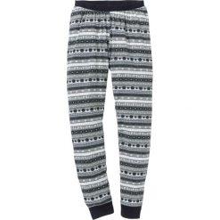 Spodnie piżamowe bonprix czarny wzorzysty. Czarne piżamy damskie bonprix. Za 44.99 zł.