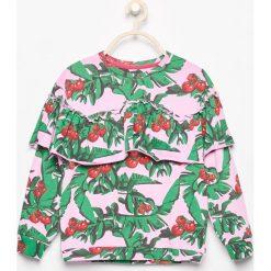 Bluza z falbaną - Różowy. Bluzy dla dziewczynek marki bonprix. W wyprzedaży za 19.99 zł.