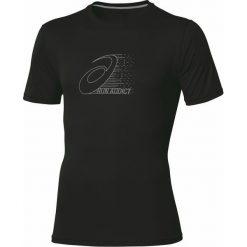 T-shirt Asics Graphic Top Perf 110408-0904. Czarne t-shirty męskie Asics, z materiału. W wyprzedaży za 89.99 zł.