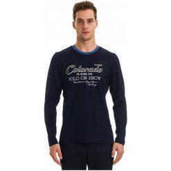 Galvanni Koszulka Męska Augusta L, Ciemnoniebieski. Czarne bluzki z długim rękawem męskie Galvanni, z bawełny. W wyprzedaży za 199.00 zł.