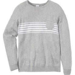 Sweter z kieszonką Regular Fit bonprix jasnoszary melanż. Swetry przez głowę męskie marki Giacomo Conti. Za 59.99 zł.