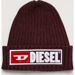Diesel - Czapka. Brązowe czapki i kapelusze męskie Diesel. Za 239.90 zł.