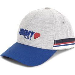 Czapka z daszkiem TOMMY JEANS - Tjw Heart Jersey Cap AW0AW05338 004. Szare czapki i kapelusze damskie Tommy Jeans, z jeansu. W wyprzedaży za 129.00 zł.
