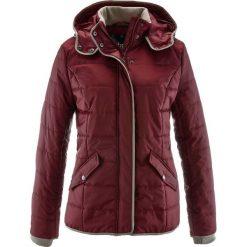 Kurtka pikowana z kontrastową lamówką bonprix czerwony klonowy. Czerwone kurtki damskie bonprix. Za 149.99 zł.