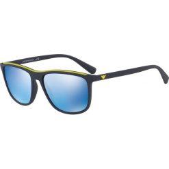 Emporio Armani - Okulary 0EA4109. Brązowe okulary przeciwsłoneczne męskie Emporio Armani, z materiału. Za 679.90 zł.