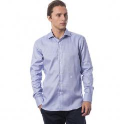 Koszula w kolorze chabrowym. Niebieskie koszule męskie Roberto Cavalli, Trussardi, z klasycznym kołnierzykiem. W wyprzedaży za 329.95 zł.